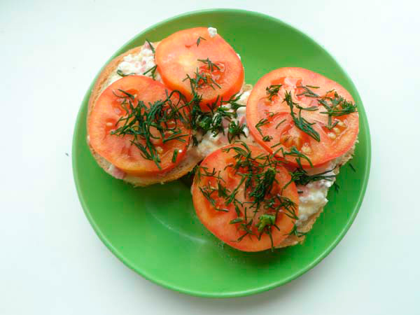 бутерброды с творогом рецепт