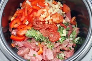 овощи с говядиной