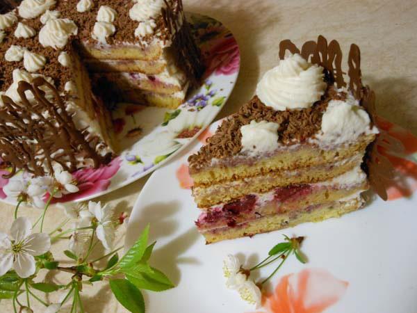 торт зимняя вишня рецепт с фото с фото
