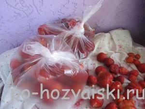 заморозка клубники