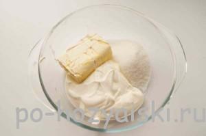 сметана, масло, сахар