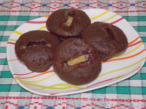 быстрые шоколадные кексы в микроволновке
