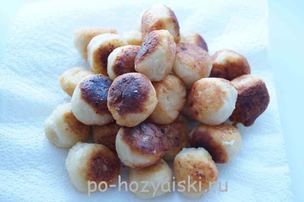 рецепт творожных шариков жареных в масле