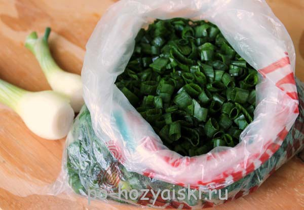 заморозка зеленого лука