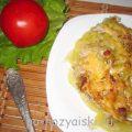 Картофельная запеканка с кабачками и фаршем