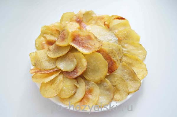 картофельные чипсы в духовке рецепт