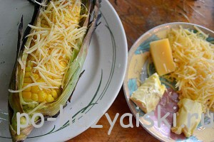 кукуруза с сыром и маслом