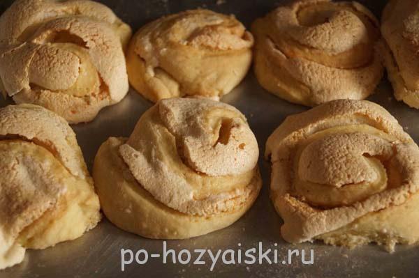 печенье розочки с безе рецепт