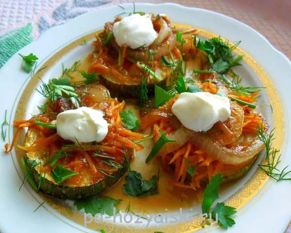 кабачки с чесноком в духовке рецепт