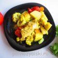 Курица, запеченная в духовке с овощами