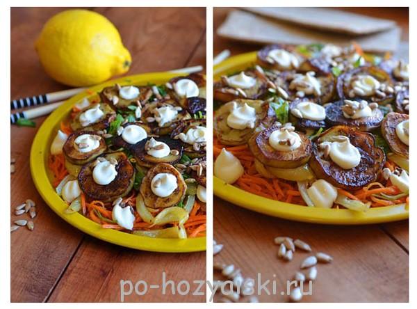 салат из жареных баклажанов рецепт