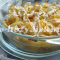 Запеченный картофель с кабачками в духовке