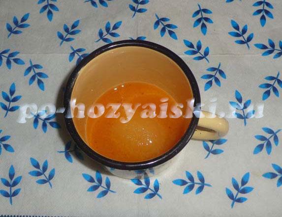 персиковая глазурь