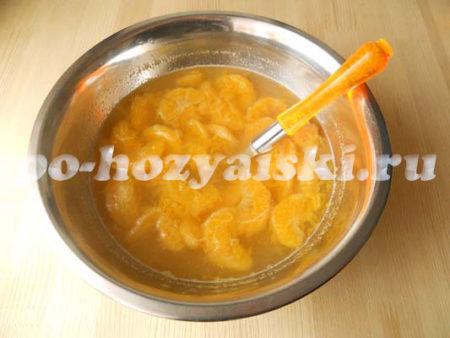 мандарины в желе