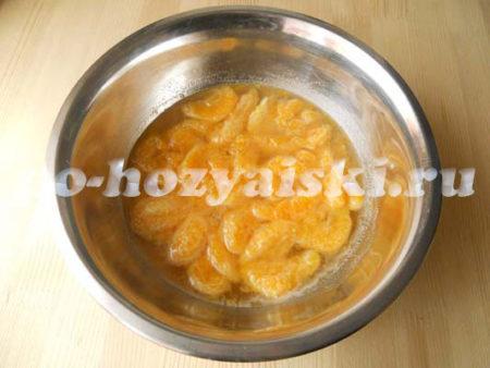 мандарины с соком