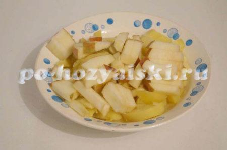 картофель с яблоками