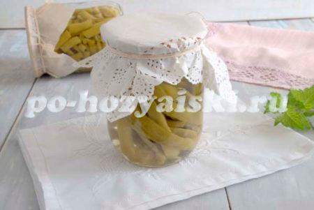 маринованная стручковая фасоль, рецепт