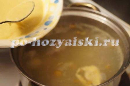 клецки в супе