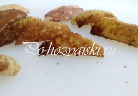 картофель дольками с корочкой
