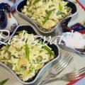 Низкокалорийный салат из яблок и яиц