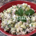 Как приготовить диетический оливье со свежими огурцами