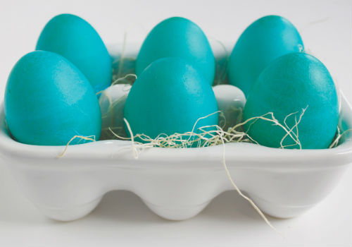 синий цвет яиц