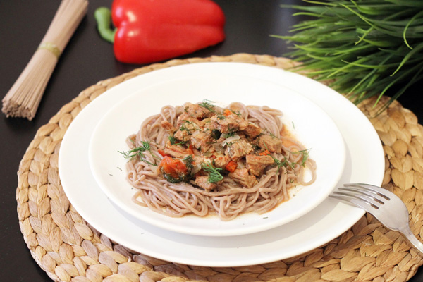 говядина с овощами рецепт