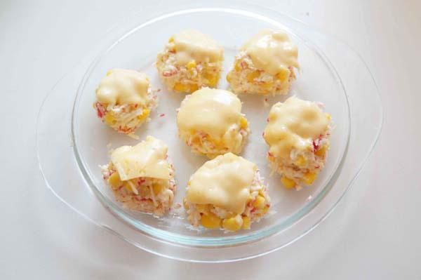 шарики из крабовых палочек с сыром