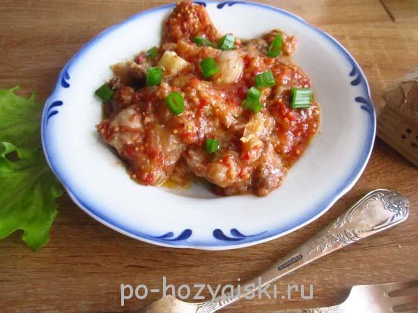 рецепт свинины в томатном соусе