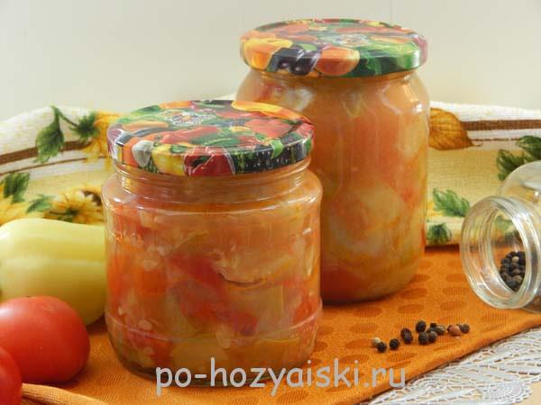 овощное рагу на зиму рецепт