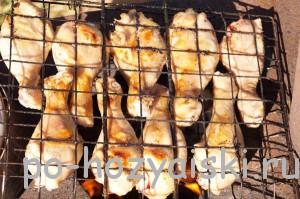 куриная голень на мангале