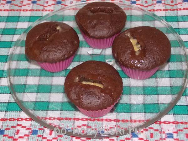 шоколадные кексы в микроволновке рецепт