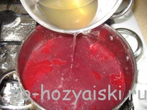 залить в малиновый сок