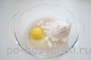 яйцо с мукой