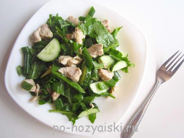 салат с мясом и рукколой рецепт