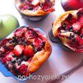 Нежный клафути с ягодами