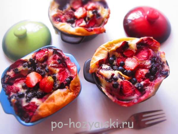 клафути с ягодами рецепт
