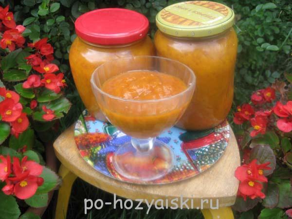 пюре из абрикосов на зиму
