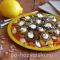 Пикантный салат из жареных баклажанов с корейской морковью