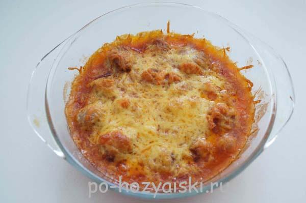 фрикадельки запеченные в соусе