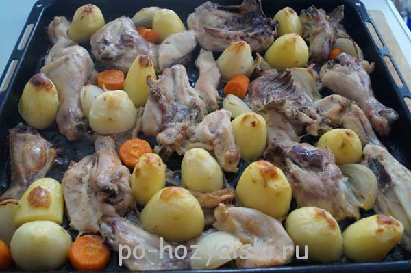 картофель с курицей в духовке рецепт