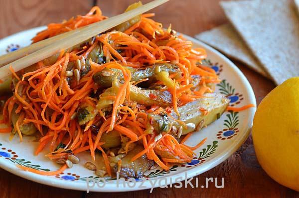 салат с баклажанами по-корейски рецепт