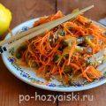 Салат из баклажанов по-корейски с морковью