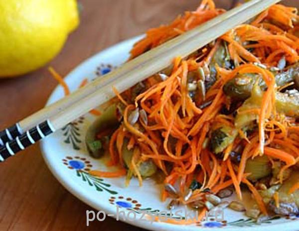 салат с баклажанами по-корейски рецепт с фото