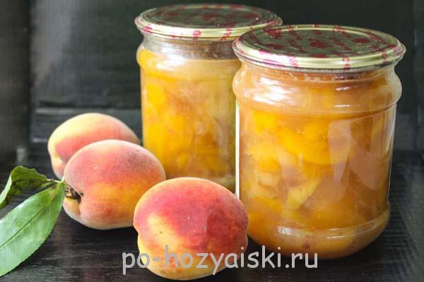 варенье из персиков дольками рецепт
