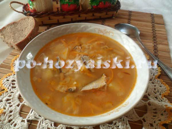 суп из кильки рецепт