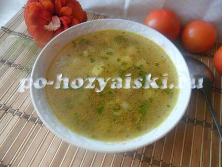 рецепт грибного супа