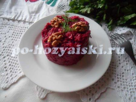 рецепт свекольного салата