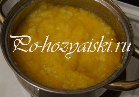 сделать картофельно тыквенное пюре