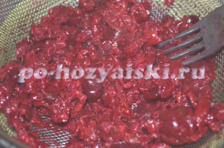 перетертые ягоды